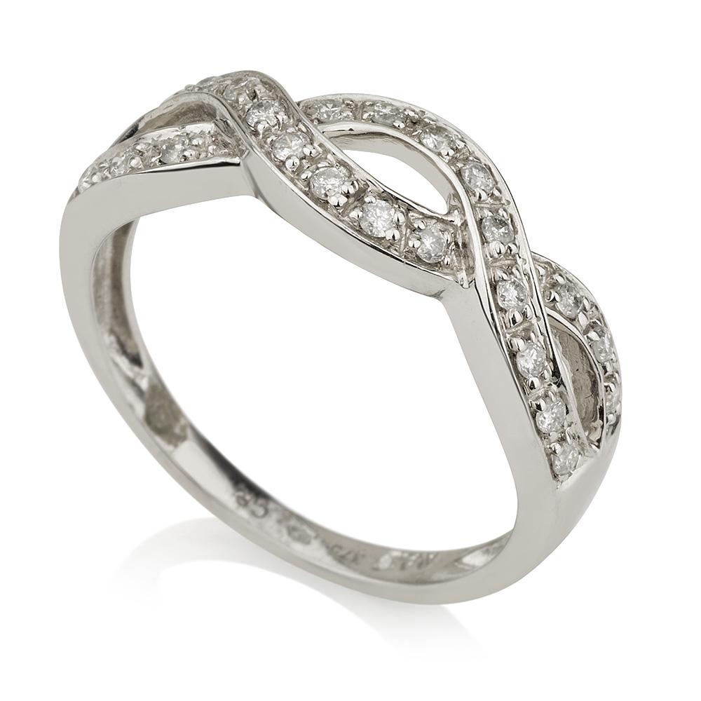 טבעת יהלומים קשר אינסופי - זהב 9K