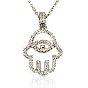 שרשרת יהלומים Diamond Vintage Hamsa - זהב 9K