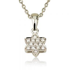 שרשרת יהלומים Tiny David-Star - Vintage