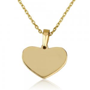 שרשרת חריטה Tiny Heart - זהב 14K