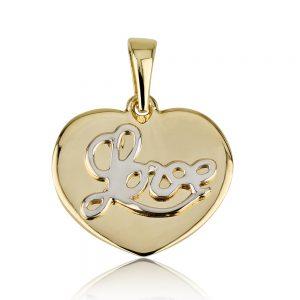 תליון Tiny Heart Love - זהב 14K