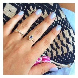 טבעת ג'וזפין רויאל- זהב צהוב 14K