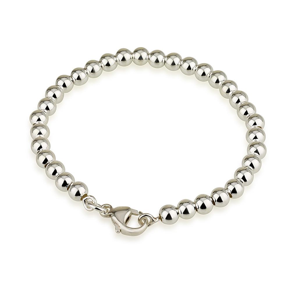 צמיד כדורים איימי L בייסיק - Silver 925