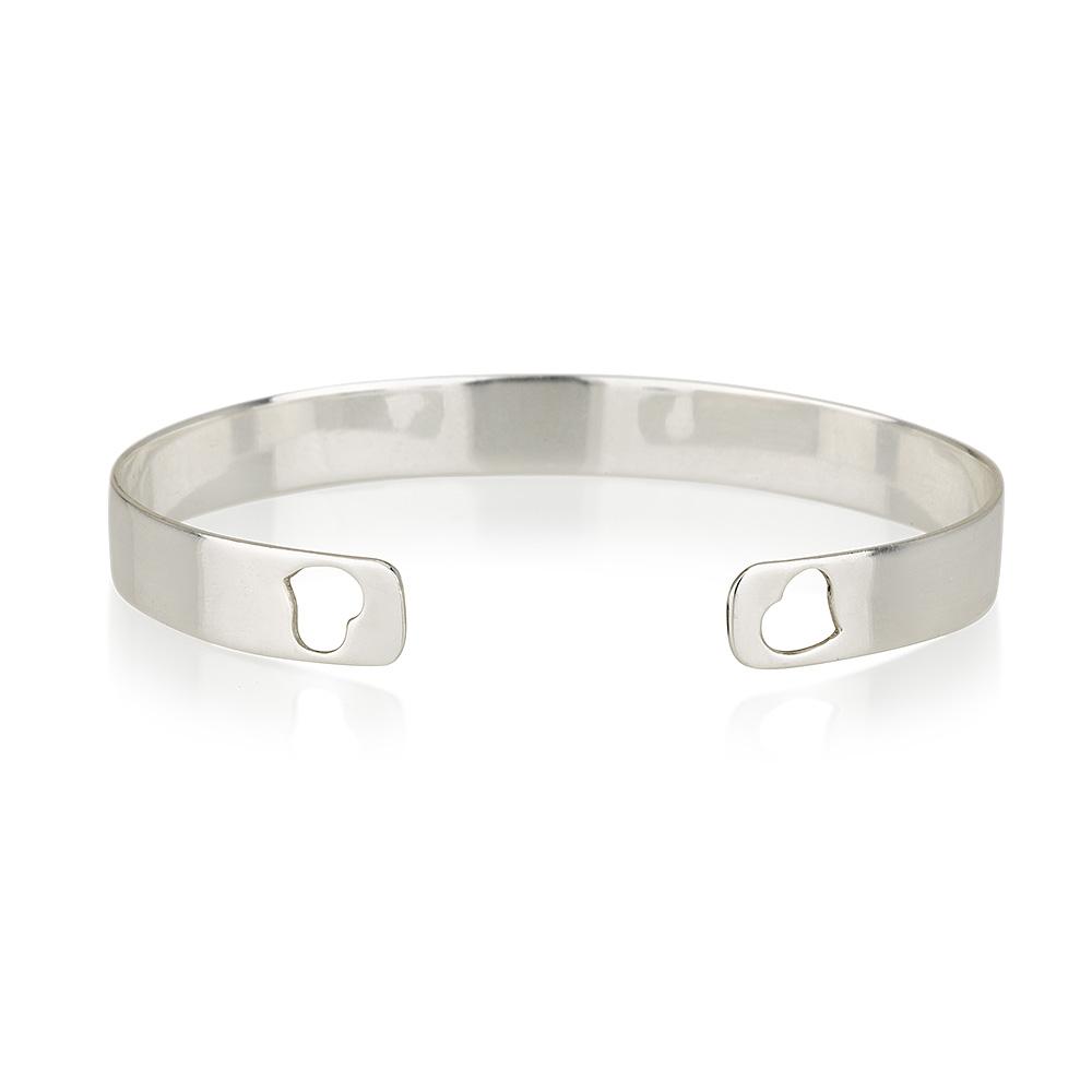 צמיד אסיה לבבות - Silver 925