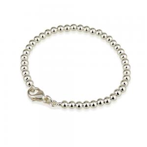 צמיד כדורים איימי M בייסיק סגירה רגילה - Silver 925