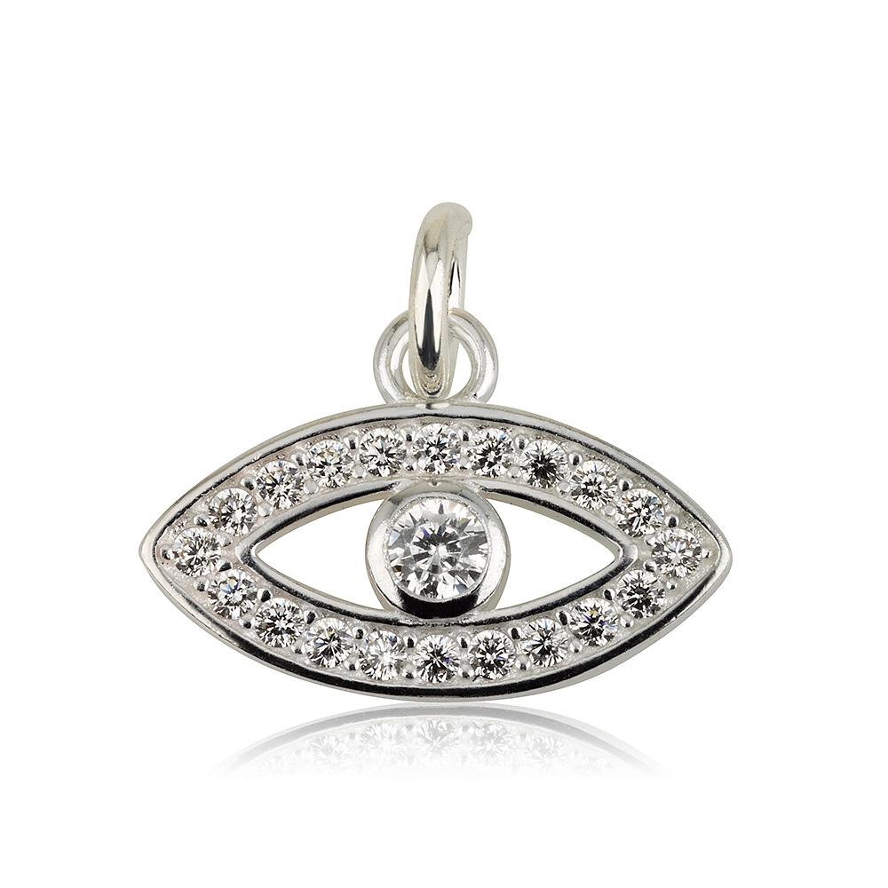 תליון עין משובץ - Silver 925