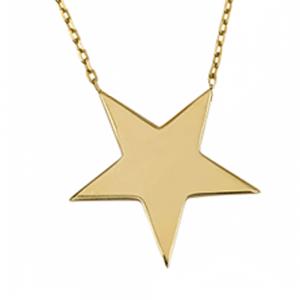 שרשרת חריטה סטאר - זהב צהוב 14K