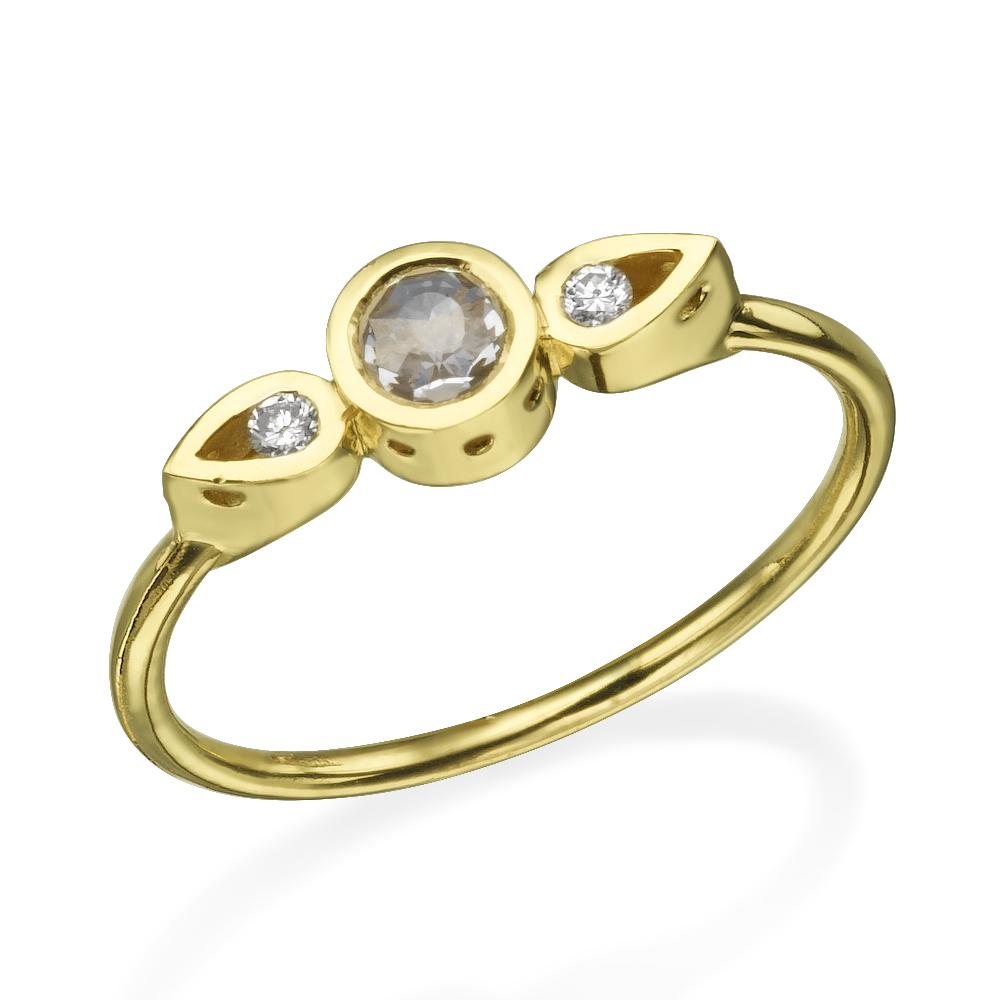 טבעת יהלומים צ'ויס - זהב 14K
