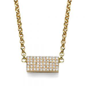 שרשרת יהלומים פינק פלטה - זהב ורוד 14K