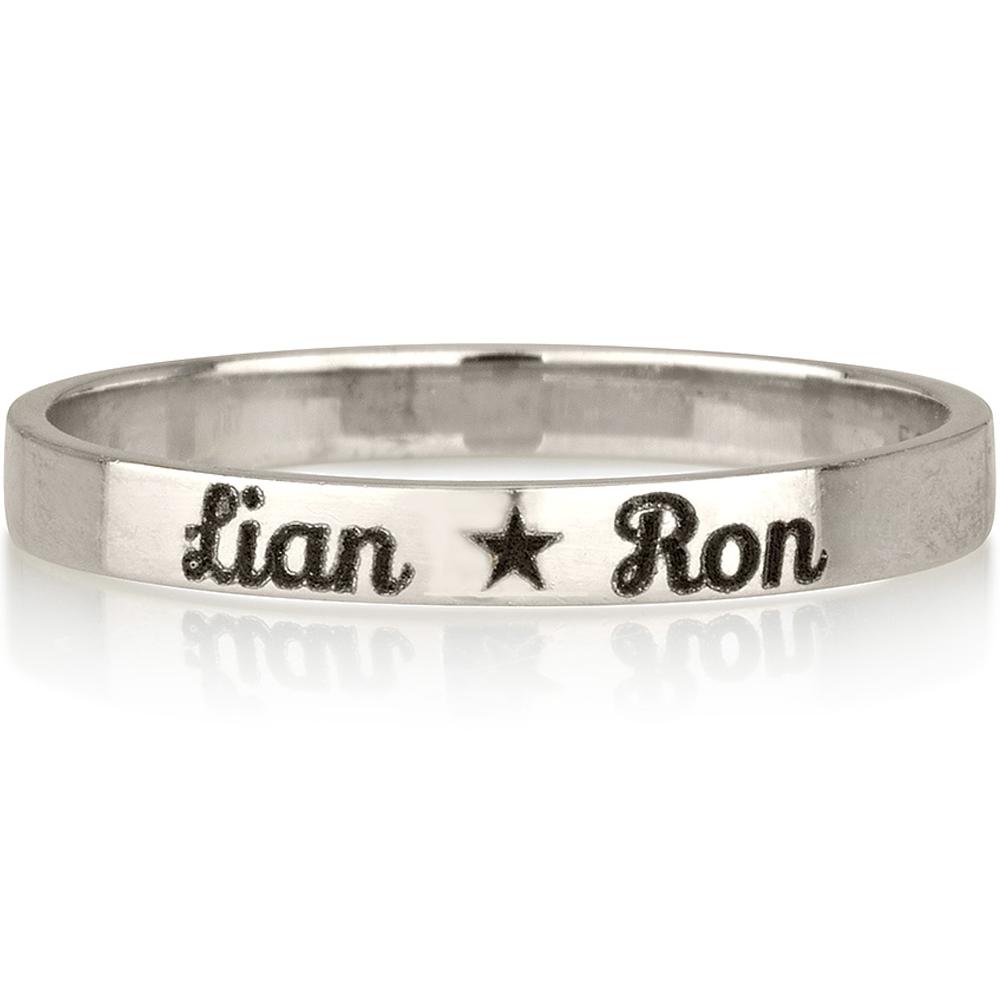 טבעת חריטה דגם חישוק - זהב 14K