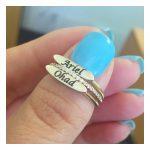 טבעת חריטה עם השחרה