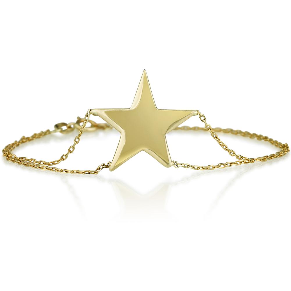 צמיד חריטה סטאר - זהב 14K