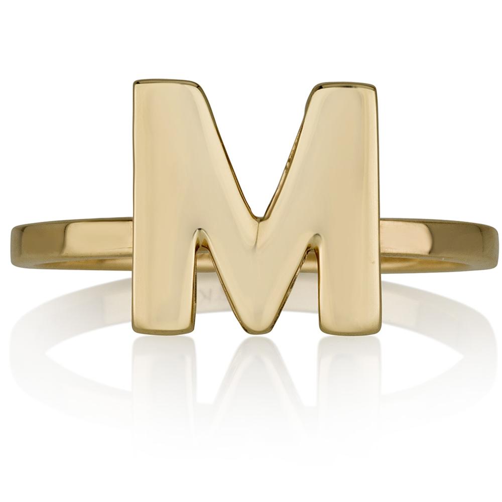 טבעת אות בעיצוב אישי - זהב 14K