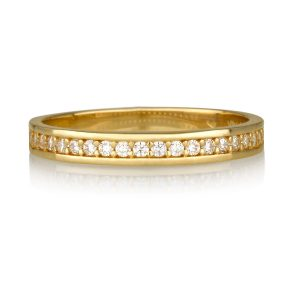 טבעת קומפליט זירקונים - זהב 14K
