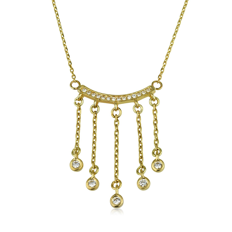 שרשרת זהב בוהו שיק - זהב צהוב 14K