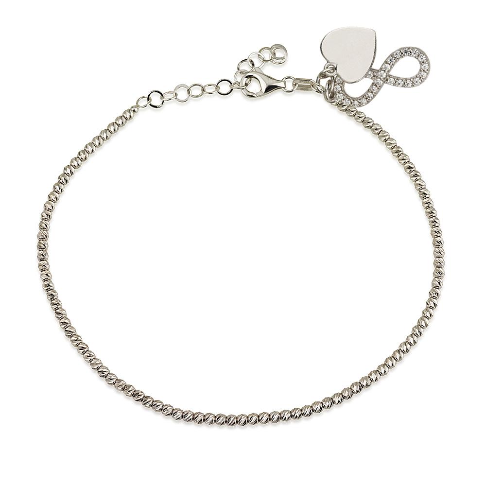 מפואר צמידי כדורים - Diamond Cut ⋆ Gold & Mia תכשיטי זהב QV-63