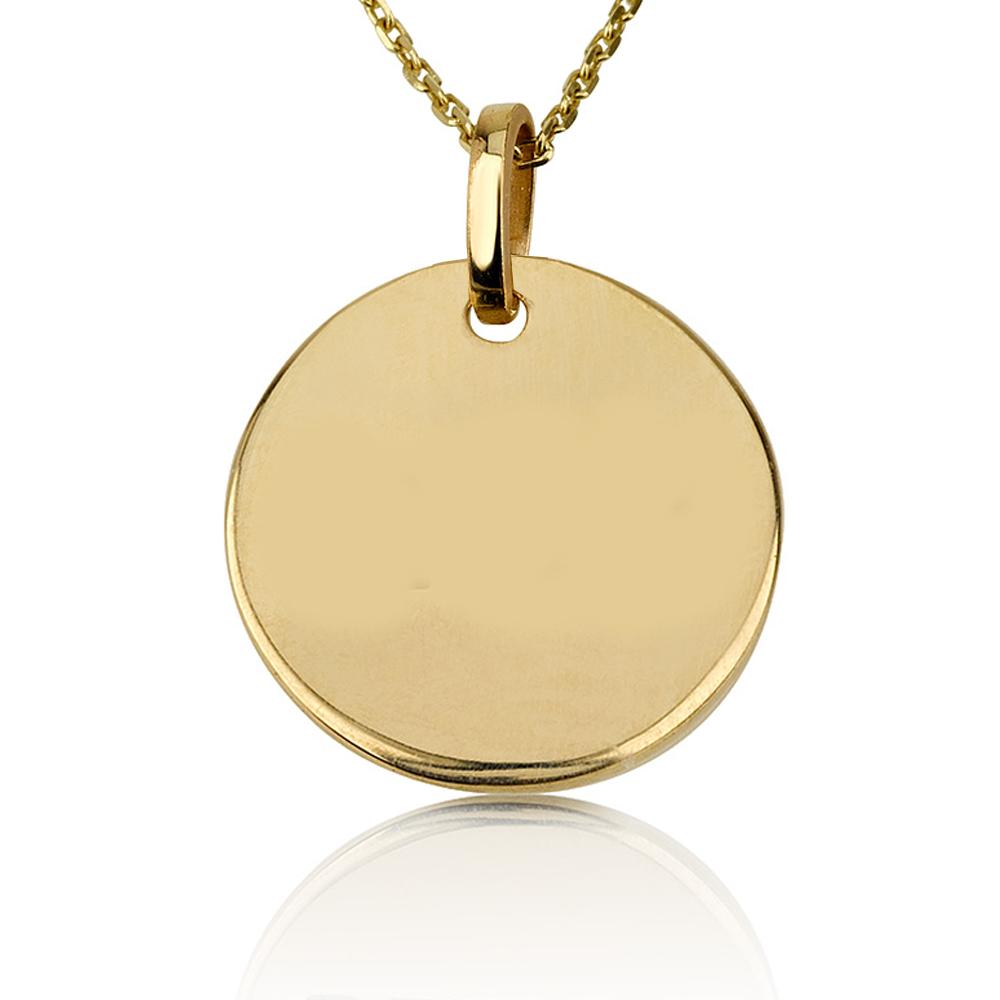 שרשרת חריטה מטבע Medium - זהב 14K