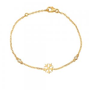 צמיד Snow עם נטיפי יהלומים - זהב 14K