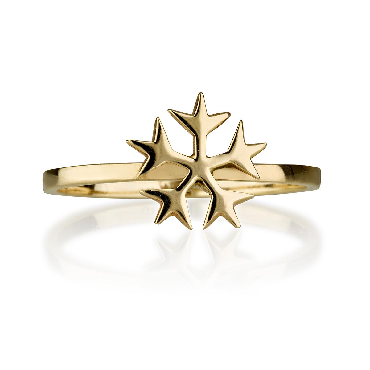 טבעת Snow - טבעות זהב מעוצבות