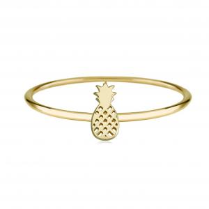 טבעת פיינאפל שיק - זהב 14K