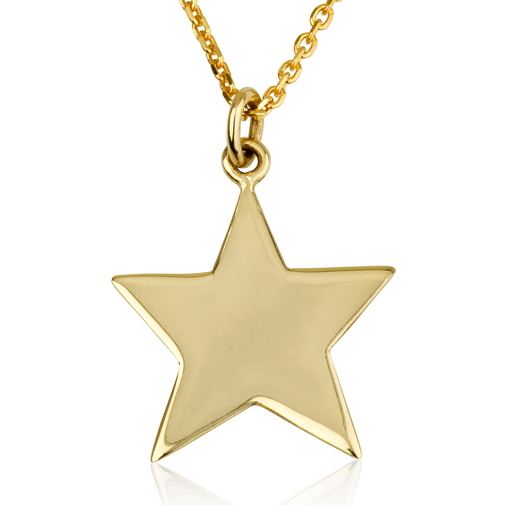 שרשרת חריטה מג'יק סטאר - זהב 14K