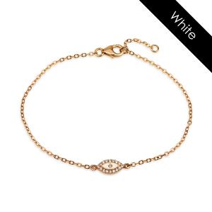 צמיד יהלומים קולרפול EYE - זהב 14K