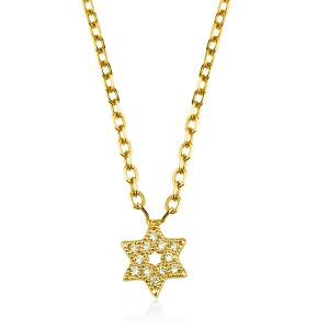שרשרת יהלומים Star - זהב 14K