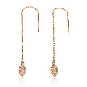 עגילי קולרפול EYE – זהב 14K - תכשיטי יהלומים - תכשיטי אמייל