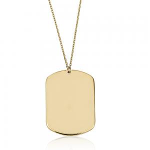 שרשרת חריטה דיסקית - זהב 14K