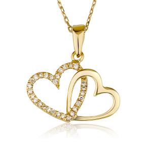 שרשרת יהלומים My Heart - זהב 14K