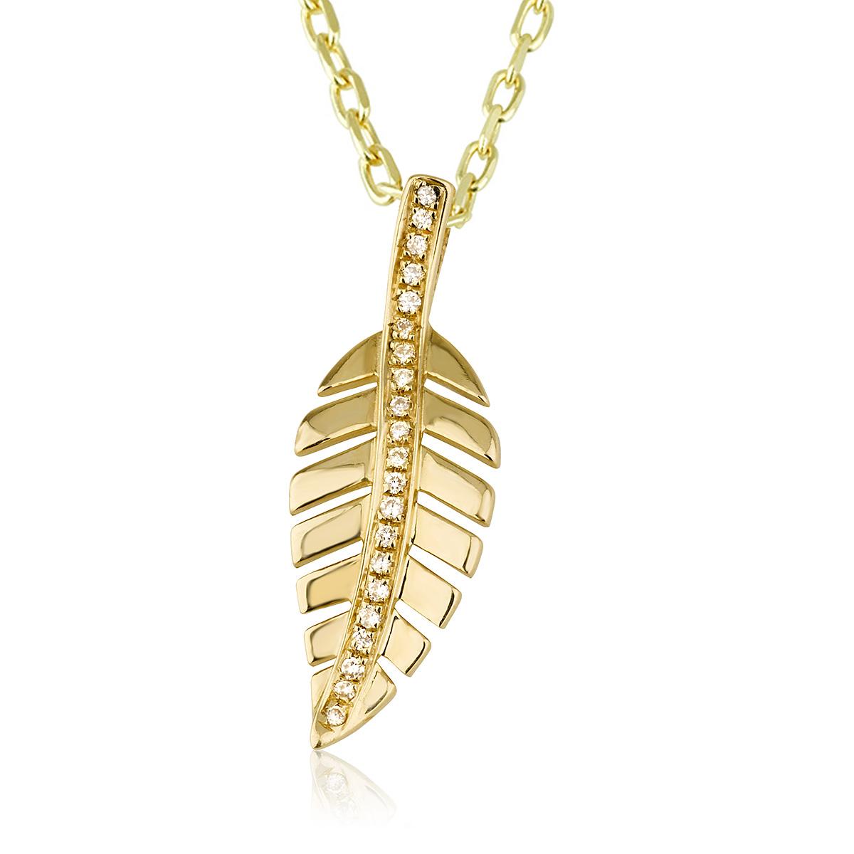 שרשרת יהלומים ליב - זהב 14K