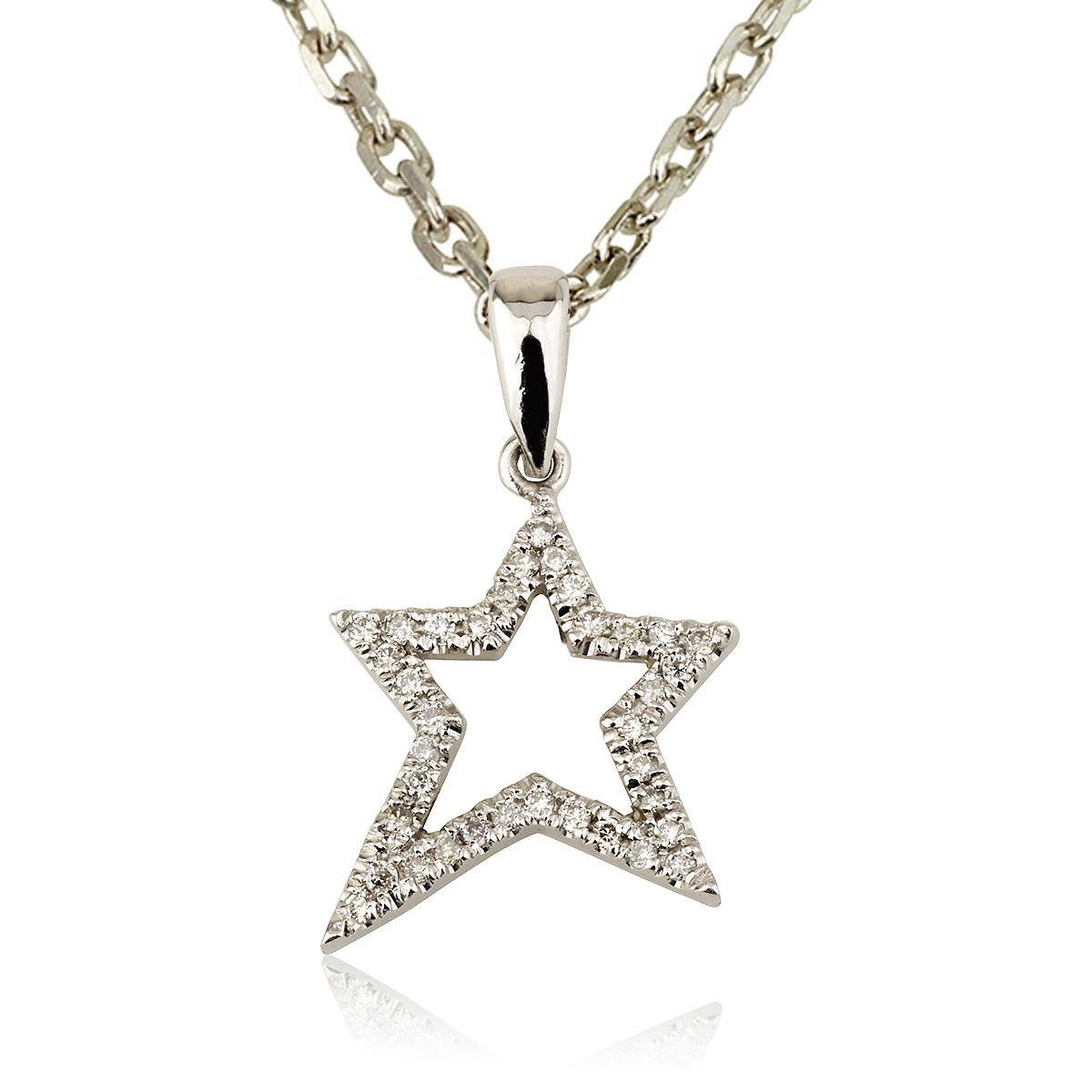 שרשרת יהלומים סטאר - זהב 14K