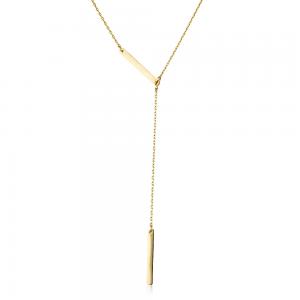 שרשרת עניבה פסים - זהב 14K