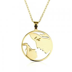 שרשרת אהבה של אמא S - זהב 14K