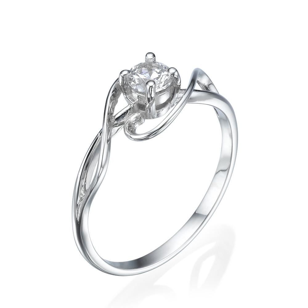 טבעת אירוסין עיטורים מטפסים  - זהב 14K