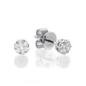 עגילי יהלומים מילאן  - זהב 14K