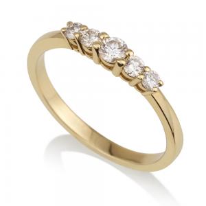 טבעת יהלומים סינדרלה S - זהב 14K
