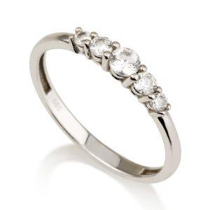טבעת יהלומים סינדרלה - זהב 14K