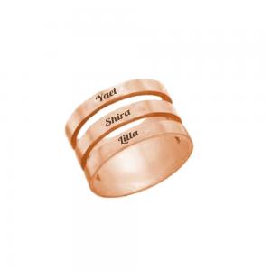 טבעת תלת זהב וורוד- SHOPPING IL- טבעות- טבעות חריטה