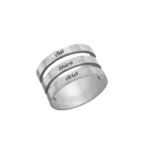 טבעת חריטה חישוקים- SHOPPING IL- טבעות חריטה- Ring yourself- מתנה לחג