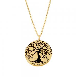 שרשרת חריטה עץ החיים- זהב 14K