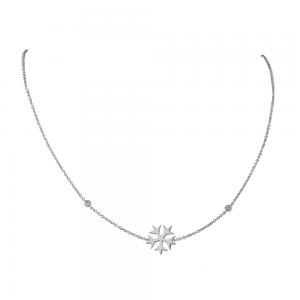 שרשרת SNOW עם נטיפי יהלומים- זהב 14K