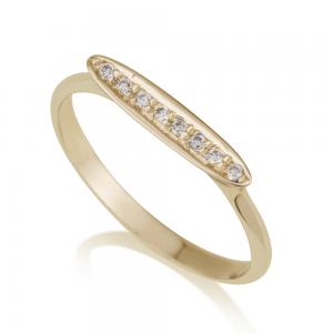 טבעת יהלומים קורטני- זהב 14K