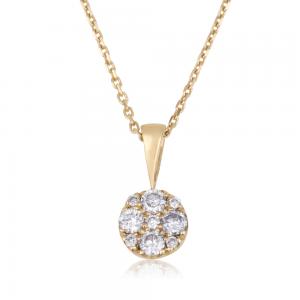 שרשרת יהלומים Round Magic L זהב 14K