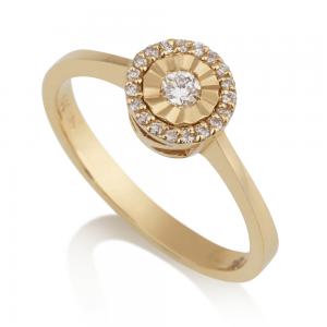 טבעת יהלומים סאנשיין