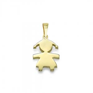 תליון ילדה בעיצוב אישי  - זהב 14K