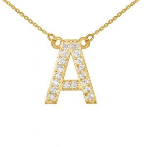 שרשרת יהלומים A - זהב 14K