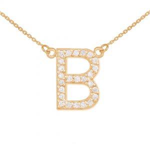 שרשרת יהלומים B - זהב 14K