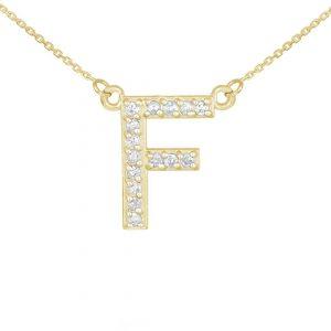 שרשרת יהלומים F - זהב 14K