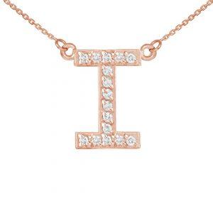שרשרת יהלומים I - זהב 14K